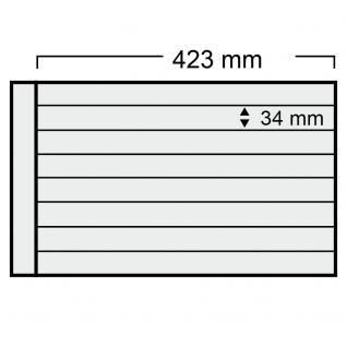 5 x SAFE 1028 Ergänzungsblätter mit 8 Taschen 423x34 mm + schwarze ZWL Für Rollenmarken Rollenenden - Vorschau 1