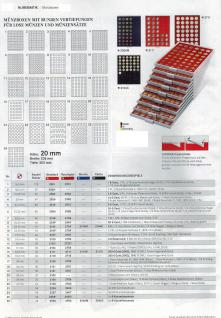 LINDNER 2735 MÜNZBOXEN Münzbox Rauchglas 35 x 36 mm Münzen quadratischen Vertiefungen 5 Reichsmark - Vorschau 2