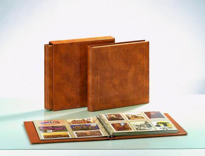 SAFE 1002 Skai MAXI Postkartenalbum Album Ringbinder Hellbraun + 8 Ergänungsblätter nutzbar bis zu neue 500 Ansichtskarten Postkarten Banknoten