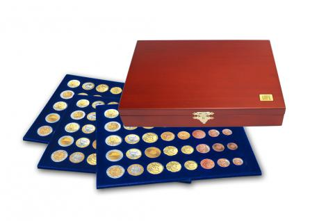 SAFE 5892 Elegance Münzkassetten 3 Tableaus 6340 15 Euro KMS Kursmünzensätze 1 Cent - 2 € Euromünzen