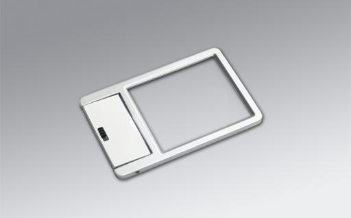 SAFE 4650 ALU Design Leuchtlupe Lupe im Kreditkartenformat + LED 2, 5x fache Vergrößerung Linsengröße 51x 43 mm