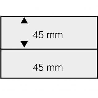 50 SAFE 7002 DIN A6 Einsteckkarten Steckkarten Klemmkarten weisser Folie + 2 Streifen klar 148x45 mm