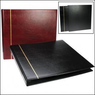 SAFE 1317-1 Standard Postkartenalbum Album Ringbinder Bordeaux Rot (leer) zum selbstbefüllen - Erweiterbar bis 300 Postkarten Ansichtskarten