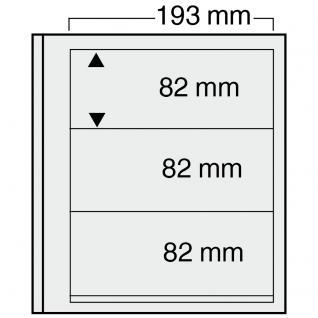 10 x SAFE 7123 EURO-SYSTEM Graue Einsteckblätter Ergänzungsblätter 3 Klemmstreifen 193 x 82 mm