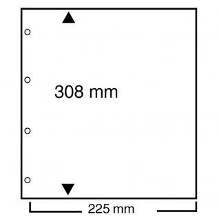 10 SAFE 459 Blattschutzhüllen 235 x 305 mm für die Blankoblätter Compact A4 490 & 491 & 492