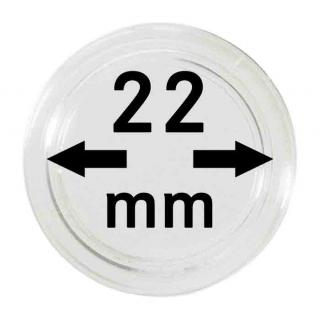 10 LINDNER Münzkapseln / Münzenkapseln Capsules Caps 22 mm 2250022P