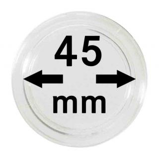 10 LINDNER Münzkapseln / Münzenkapseln Capsules Caps 45 mm 2250045P