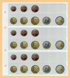 5 KOBRA FE24 Münzblätter Münzhüllen + weiße Zwischenblätter Für 3 komplette Euro KMS Kursmünzensätze von Andorra bis Zypern