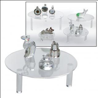 4 x Set SAFE 5280 + 5281 + 5282 + 5283 Runde ACRYL Präsentationsteller Deko Aufsteller 100 - 240 mm Für Schaufenster Fenter Vitrinen Bürodekoration - Vorschau 2