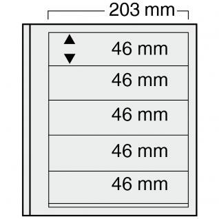 10 x SAFE 7125 EURO-SYSTEM Graue Einsteckblätter Ergänzungsblätter 5 Klemmstreifen 193 x 46 mm