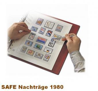 SAFE 1780 dual Nachträge - Nachtrag / Vordrucke Berlin Jahresschmuckblätter - 1980