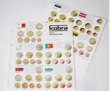 1 KOBRA FEU Euro Münzenübersicht 1 2 5 10 20 50 C. 1, 2 Euro Münzen von allen 23 Euro Staaten Ländern von Andorra bis Zypern
