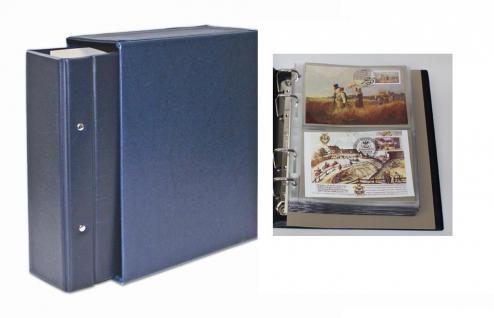 SAFE 7893 Standard Compact Postkartenalbum Banknotenalbum Blau mit 20 Blättern 7873 erweiterbar bis 300 Postkarten Banknoten