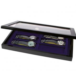 SAFE 5937 Schwarze Sammelvitrine Vitrinen PIANO Klavierlackoptik 8 Fächer Ideal Für Uhren Armbanduhren