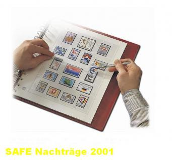 SAFE 1601 dual Nachträge - Nachtrag / Vordrucke Frankreich - France Jahresschmuckblätter - 2001