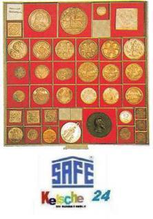 10 x BEBA 6163 Carre Münzrahmen Einlageschälchen 44, 5 mm für MAXI Schuber 6101 6102 Münzboxen 6601