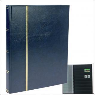 SAFE 157-4 Briefmarken Einsteckbücher Einsteckbuch Einsteckalbum Einsteckalben Album Blau 32 schwarze Seiten