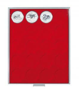 LINDNER 2543 Standard Münzbox Münzboxen 20 x 49 mm LUNAR SERIE II in Münzkapseln - Vorschau 1