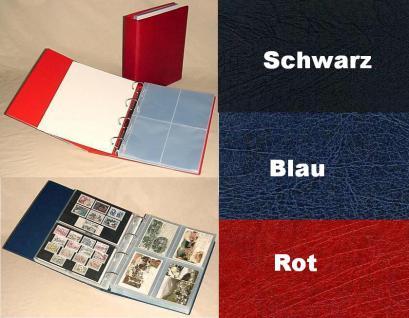 KOBRA G54 Schwarz Lageralbum Album Sammelalbum DIN A4 + 50 Blatt G54E 4 geteilt 110x150 mm Für 400 Bierdeckel Postkarten Ansichtskarten Banknoten Geldscheine erweiterbar