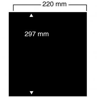 10 SAFE 451 Einsteckblätter Compact A4 - 2 schwarze Taschen 220 x 297 mm Für Banknoten Briefmarken