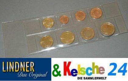 50 LINDNER Folienhüllen für Euro Kursmünzen Satz K7