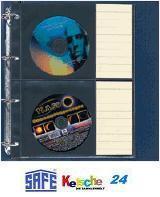 10 x SAFE Compact A4 Ergänzungshüllen Hüllen A4 Für 20 DVD / CD's mit Etiketten