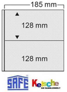 10 x SAFE 522 Ergänzungsblätter Hüllen FDC - Briefe - Postkarten - 2er Teilung Für die Alben 520 & 525