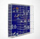 SAFE 5220 Velours-Rückwand Dunkelblau Blau für die Präsentations - Vitrinen 5210