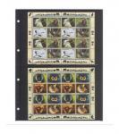 1 x LINDNER 4102 Einsteckhüllen Ergänzungsblätter Publica L A4 2 Taschen / Streifen schwarz 147 x 220 mm Für Banknoten - Briefmarken - Briefe - Fotos - Bilder - Urkunden