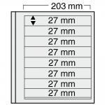 10 x SAFE 7128 EURO-SYSTEM Graue Einsteckblätter Ergänzungsblätter 8 Klemmstreifen 193 x 27 mm