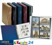 LINDNER Postkartenkartenalbum + 20 Blätter schwarz