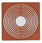 2 x LINDNER 2237 Münzbox Inletts quadratisch 68 x 68 mm große Münzkapseln hellrot für Münzen bis 62 mm
