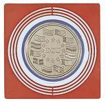 10 x LINDNER 2637 Münzbox Inletts quadratisch 68 x 68 mm große Münzkapseln dunkelrot Münzen bis 62 mm