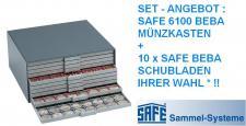 SAFE 6100 Set BEBA Münzkasten MAXI komplett mit + 10 Schubern Schubladen gefüllt Freie Auswahl