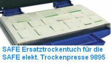 SAFE 9896 Ersatz Trockentuch für SAFE 9895 Press elektrische TROCKENPRESSE