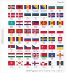 Lindner 14 Perforiertes Flaggenblatt Neue Euro Länder und Rest Europa für Karat K8 Münzblätter zum selbst gestalten
