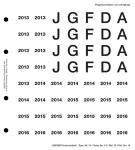 Lindner 19 Perforiertes Vordruckblatt Prägebuchstaben Jahreszahlen 2013- 2016 für K8 Münzblätter zum selbst gestalten