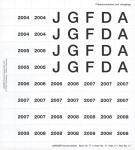 Lindner 17 Perforiertes Vordruckblatt Prägebuchstaben Jahreszahlen 2004- 2008 für K8 Münzblätter zum selbst gestalten