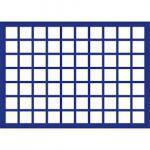 1 x SAFE 182 Blaue Münztableaus 70 eckige Fächer für Münzen bis 26 mm ideal für 2 Euro Münzen & Münzkapseln bis 20 mm