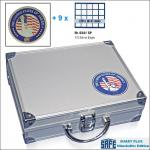 SAFE 230 - 6341 PLUS ALU Münzkoffer SMART USA 9 Tableaus 180 Fächer 41 mm für US EAGLE DOLLAR