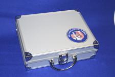 SAFE 230 ALU Sammelkoffer SMART USA mit Plakette Liberty leer für alles was gesammelt wird von A - Z