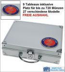 SAFE 231 PLUS ALU Münzkoffer SMART Frankreich mit 9 Tableaus - 27 Modelle für bis zu 720 Münzen - FREIE AUSWAHL