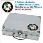 SAFE 232 ALU Münzkoffer Italien - Italy - Italia 6 Tableaus - 27 Modelle verfügbar Platz für bis zu 480 Münzen - FREIE AUSWAHL