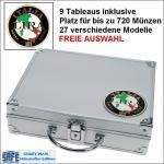 SAFE 232 PLUS ALU Münzkoffer SMART Italien - Italy - Italia 9 Tableaus 27 Modelle verfügbar Platz für bis 720 Münzen FREIE AUSWAHL