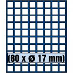 SAFE 6317 Nova Münzboxen - Schubladenelemente 80 eckige Fächer 17 mm für 1 Euro Cent 1 Pfennig