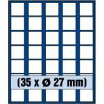 SAFE 6327 Nova Münzboxen - Schubladenelemente 35 eckige Fächer 27 mm 2 Euro DM US Smal Dollars
