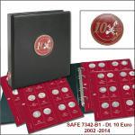 SAFE 7342 PREMIUM 10 EURO MÜNZALBUM Deutschland + 7x farbige Vordrucke + 7393 Bd 1 2002 - 2015 von A wie Automobil bis Z wie Zuse
