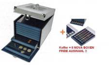 SAFE SET 6312 ALU Nova Münzkoffer Münzboxkoffer + 8 x Münzboxen - Schubladenelemente FREIE AUAWAHL