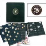 SAFE 7346 PREMIUM MÜNZALBUM Weltmünzenalbum UNIVERSAL 4x Münzhüllen MIXED für 134 Münzen