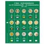 SAFE 7341-6 Premium Münzblätter Ergänzungsblätter Münzhüllen 7393 mit Vordruckblättern 2 Euro Münzen Gedenkmünzen 2009 - 2010